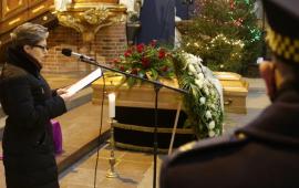 Trumna z cialem prof. jana tajchmana, uczestniczka pogrzebu odczytuj wspomnienie