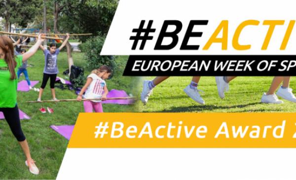 Grafika informująca o  Konkurs #BeActive Awards 2021