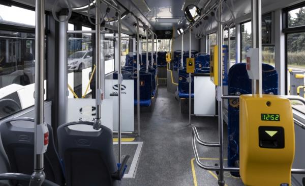 Na zdjęciu wnętrze autobusu