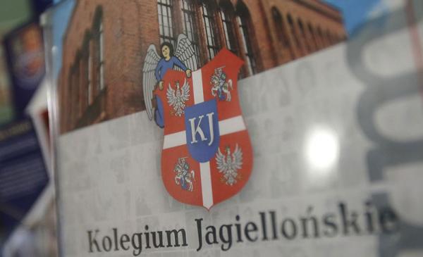 Herb i napis Kolegium Jagiellońskie
