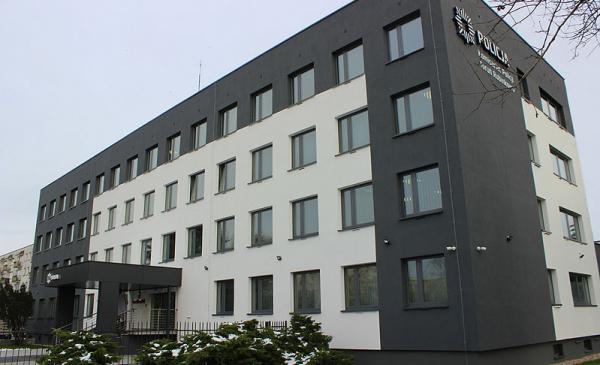 zmodernizowany budynek komisariatu