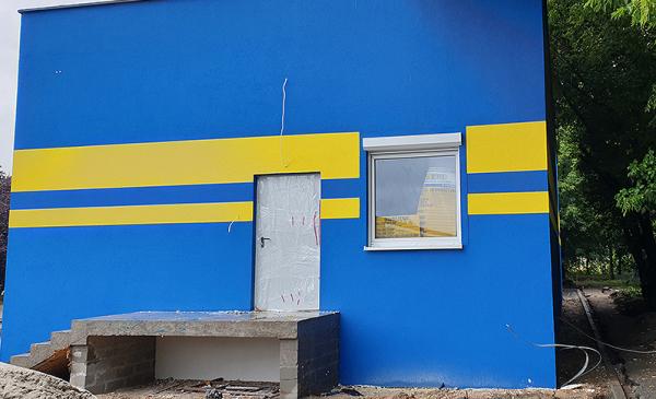Stacja dla ładowarek - widok z zewnątrz