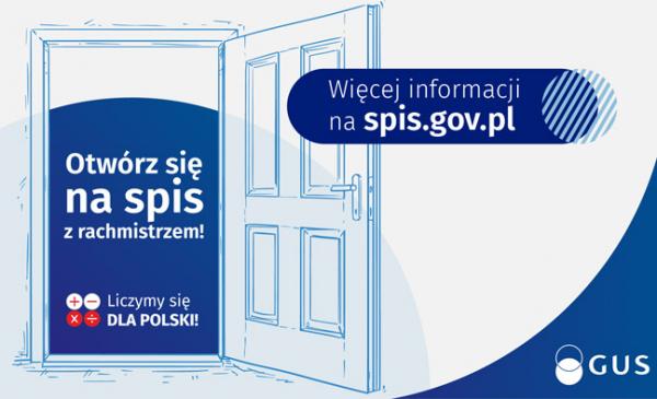 Otwarte drzwi i naspis: Otwórz się na spis z rachmistrzem.