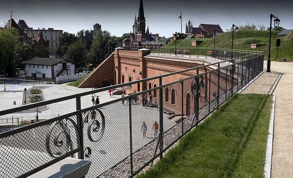 Budynek Muzeum Twierdzy Toruń - widok z góry