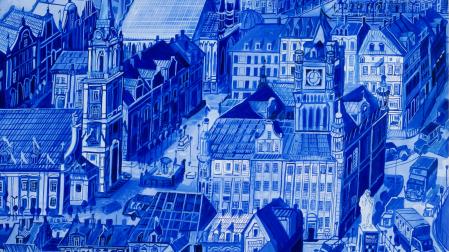 Obraz Edwarda Dwurnika - Toruń - Ratusz, 1994