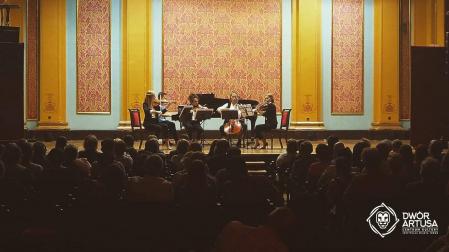 Infinito Quartet podczas koncertu w Dworze Artusa