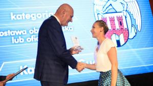 Na zdjęciu: prezydent Michał Zaleski i Katarzyna Gucajtis