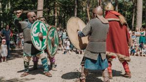 Walczący wojowie słowiańscy