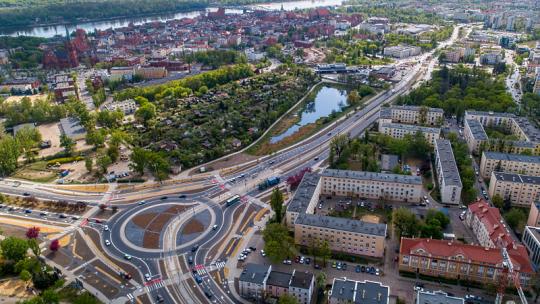 Widok na Toruń od strony placu Chrapka, fot. Błażej Antonowicz