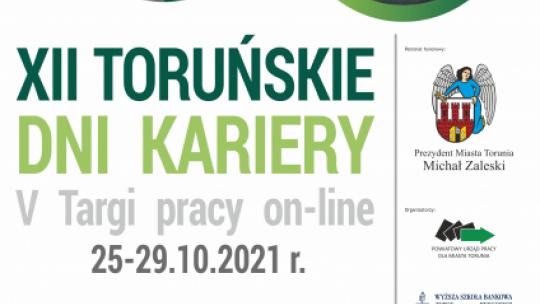 Plakat informujący o XII Toruńskich Dniach Kariery