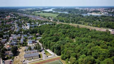 Widok z drona na osiedle Stawki, fot. Sławomir Kowalski