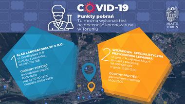 infografika - punkty pobrań w Toruniu