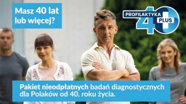plakat programu Profilaktyka 40 plus