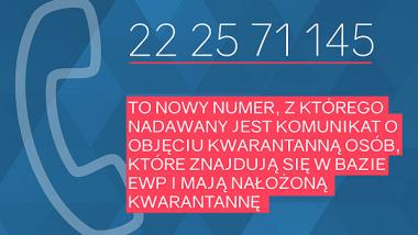 infografika nt. nowego numeru z sanepidu