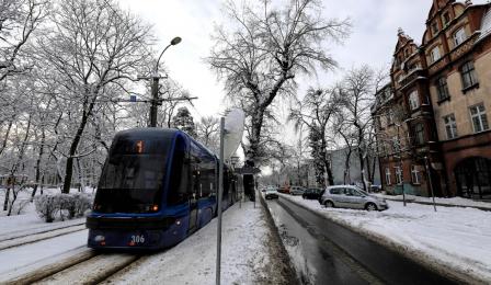 Tramwaj swing na ul. Bydgoskiej