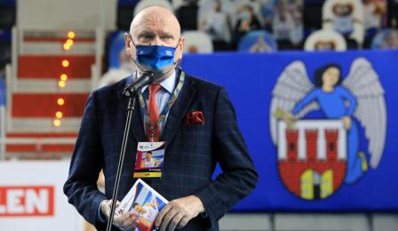 Prezydent Michał Zaleski przemawia na ceremonii otwarcia