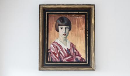 Na zdjęciu: portret młodziutkiej Jadwigi Strawińskiej pędzla jej ojca Eugeniusza Przybyła